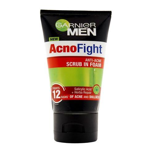 GARNIER - Men Acnofight 12 In 1 Anti-Acne Scrub In Foam