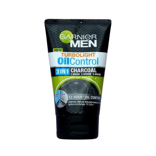 GARNIER - Men Turbolight Oil Control 3 In 1 Charcoal Foam